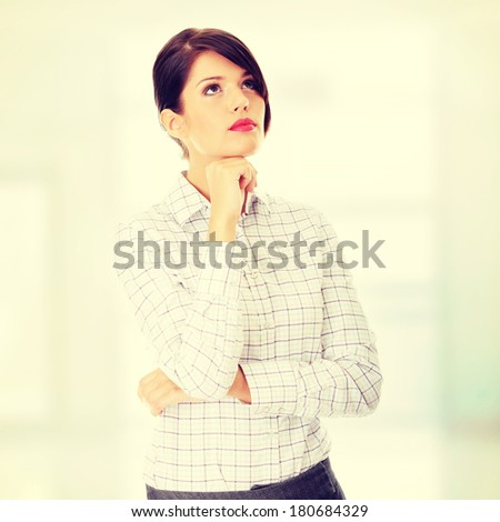 Thoughtful business woman portrait