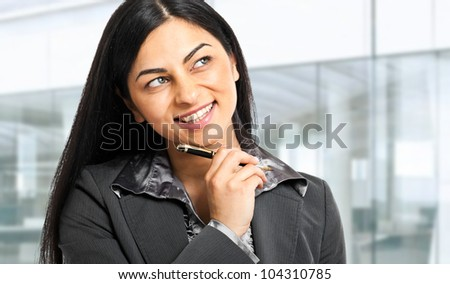 Thoughtful businesswoman portrait