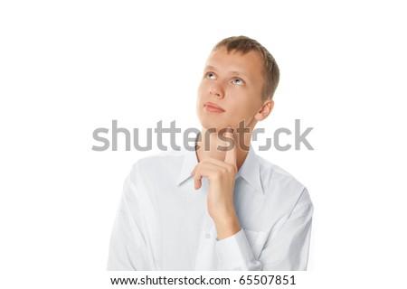 thoughtful man - stock photo