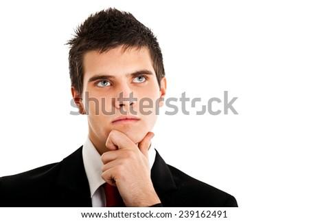 Thoughtful man portrait  - stock photo
