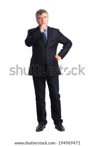 Thoughtful man posing - stock photo