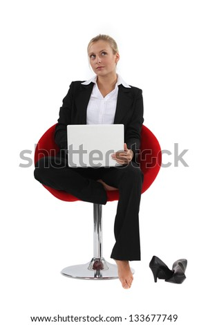 Thoughtful woman contemplating - stock photo