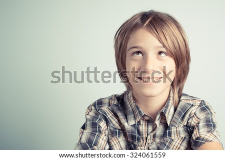 thoughts and concentration - stock photo