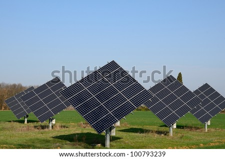 Thr cleanenergy will allow to reduce pollution - stock photo