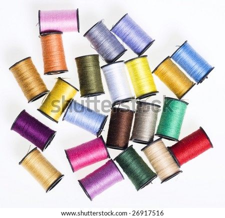 Thread coloured - stock photo