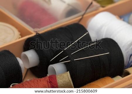 thread on the white background - stock photo