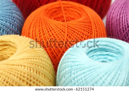 thread on white - stock photo
