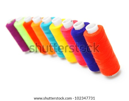 Threads. On a white background. - stock photo