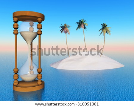 Threatened paradise Computer generated 3D illustration - stock photo