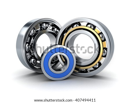 Three ball bearing (done in 3d, cgi)