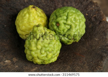 three bergamot  - stock photo