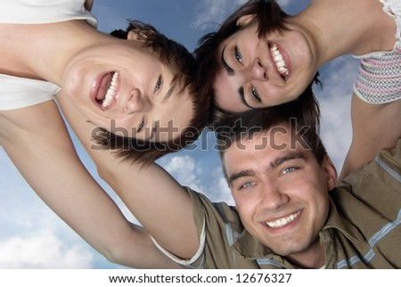 Three best friends - stock photo