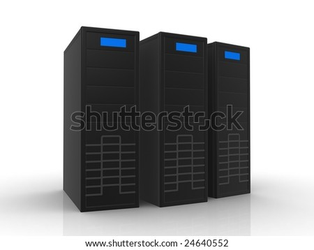 three black servers