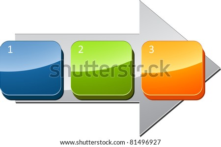 Three Blank numbered sequential steps business diagram illustration - stock photo
