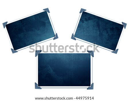 Three Blue Frames - stock photo