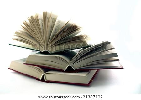three books - stock photo
