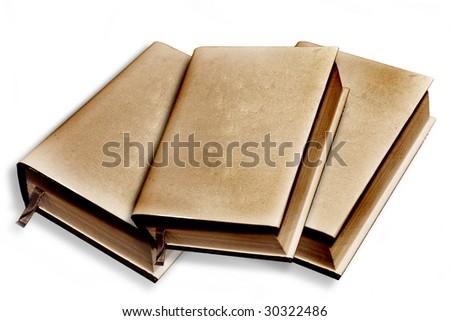 Three books-grunge - stock photo