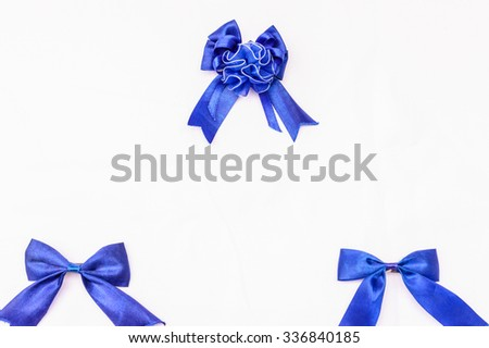 Three bows with isolate background