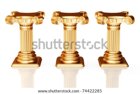 Three bronze pedestals