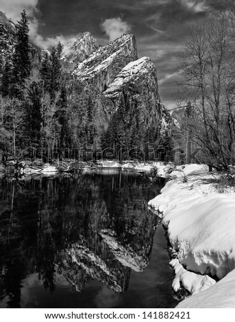 Three Brothers, Yosemite National Park - stock photo