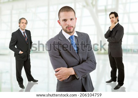 three business men portrait at the office