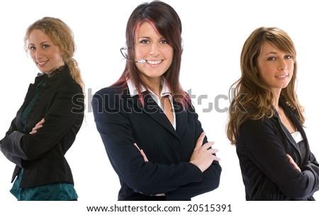 three businesswoman - stock photo