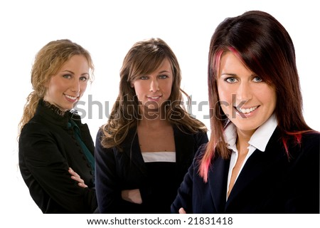 three businesswoman team - stock photo