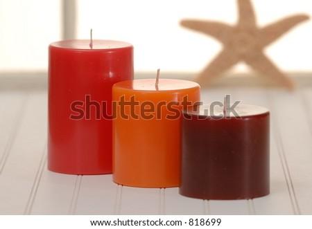 Three Candles - stock photo