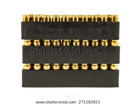 Three cases of bullets - stock photo