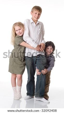 Three children - stock photo