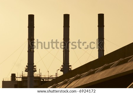 Three chimneys refinery