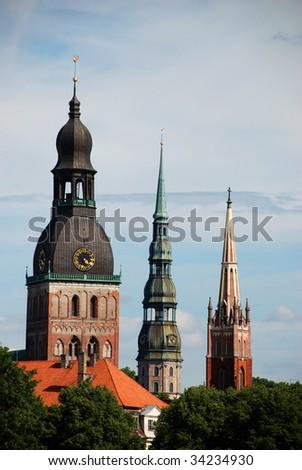 Three Churches - stock photo