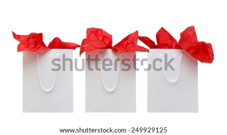 Three colorful shopping bags - stock photo