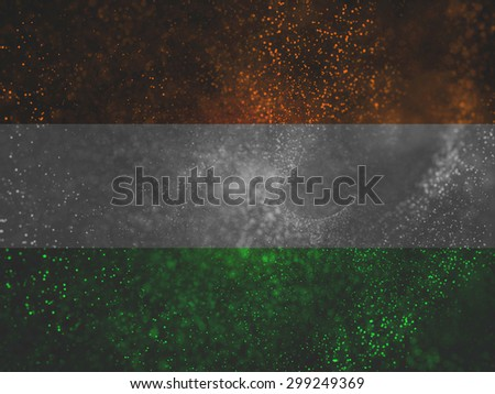 three colors particles with band, indian national day concept like independence day or republic day,
