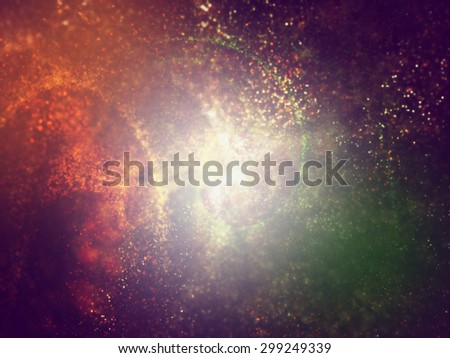 three colors saffron, white and green particles making background for web and brochure layout,