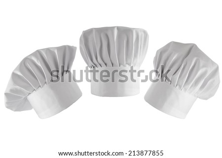 three cook hats  - stock photo