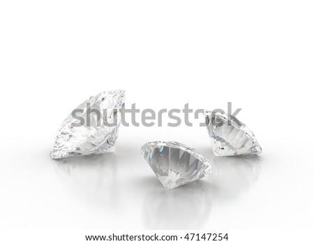 Three Diamonds - stock photo
