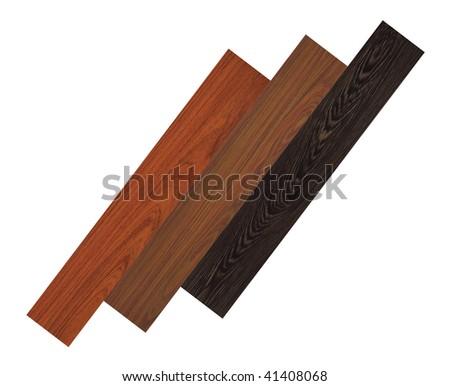 Three different wood floors - stock photo