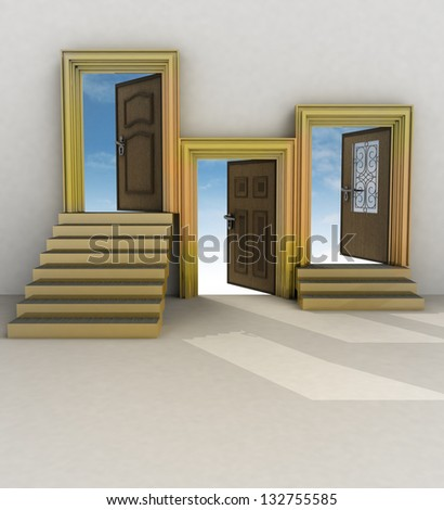 three different your of life illustration - stock photo