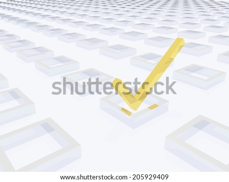 Three Dimension Check Mark - stock photo