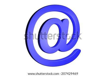 Three dimension sign of e-mail on business chart - stock photo