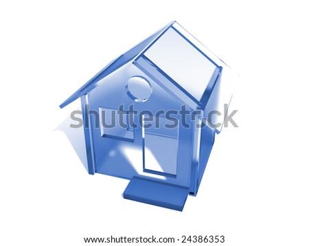 Three-dimensional building - stock photo