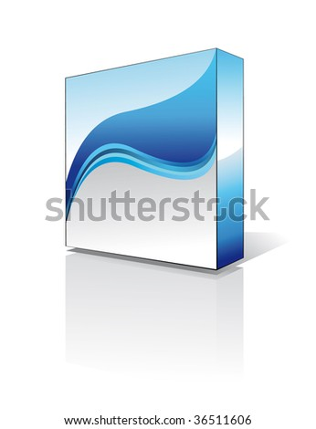 Three Dimensional Business Software Box - Environment Green Series - stock photo