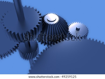 Three-dimensional composition from gears