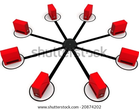 three dimensional cpu connection against white background - stock photo