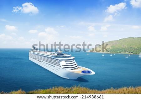 Three-Dimensional Cruise Ship Outdoors - stock photo