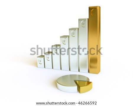 Three-dimensional financial schedule - stock photo