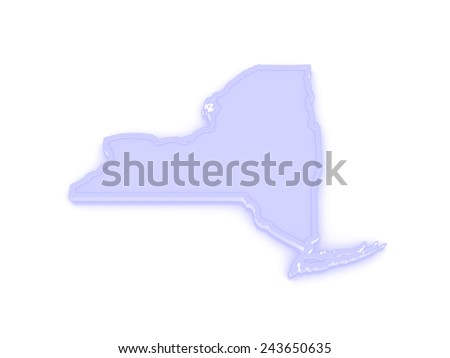 Three-dimensional map of New York. USA. 3d - stock photo