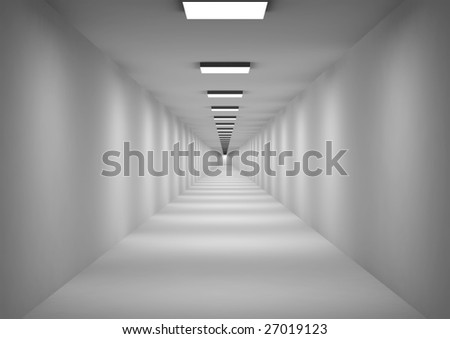 Three-dimensional model of an abstract corridor with photometric illumination