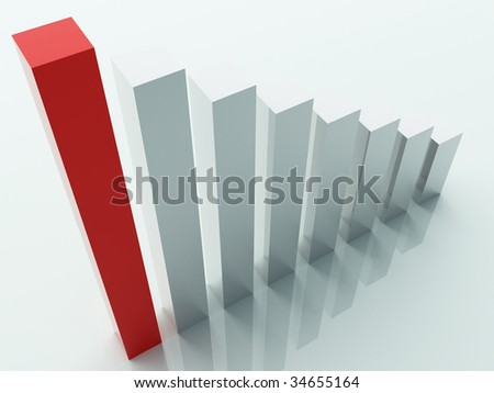three dimensional stat background - stock photo